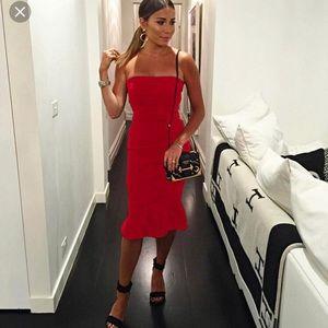 Bandage red dress